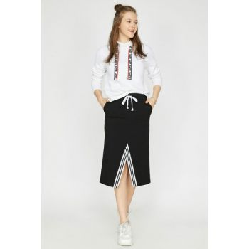 Women's Black Pocket Detail Skirt 9YAL78002OK