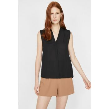 Women's Black Blouse 9YAK33625EW