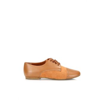 Genuine Leather Taba Women Shoes 01AYH126300A370