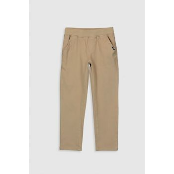 Boy's Dark Black Beige Pants 0S0522Z4