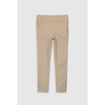 Girl's Beige Pe7 Pants 0S1523Z4