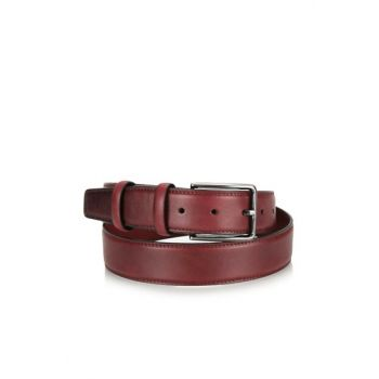 Genuine Leather Burgundy Bag & Accessories Belt 06KEH121600A780