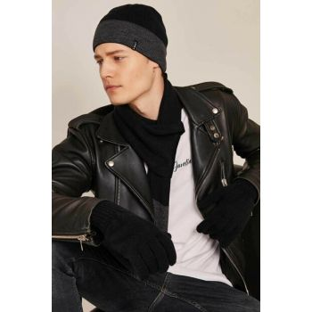 Men's Knitwear Scarf Beanie Gloves Set of 3 8981 C19W-K8981