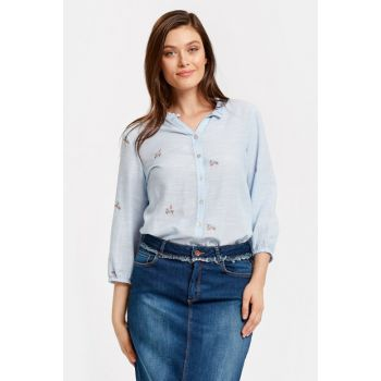 Women's Blue Shirt 8S8694Z8