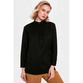 Women's New Black Blouse 9WU603Z8