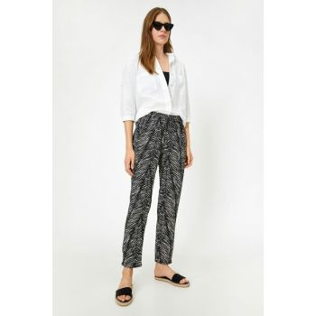 Women Black Trousers 8YAL43566MW