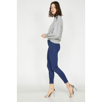 Women's Navy Blue Pants 9KAK43469MW