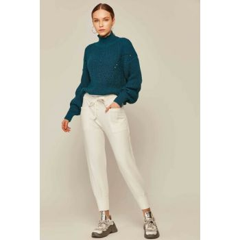 Women's White Sports Trousers 23858