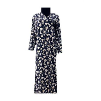 Prayer Dress Navy Blue White Floral 8830arm