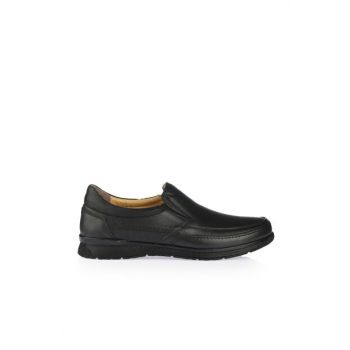 Genuine Leather Black Men Casual Shoes 02AYY162360A100
