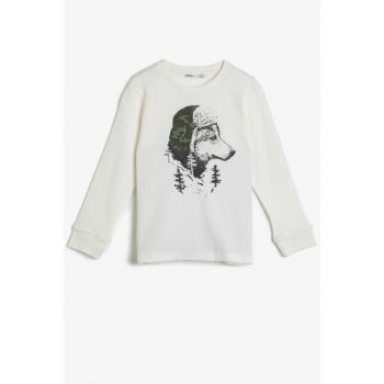 Ecru T-Shirt for Boys 0KKB16548OK