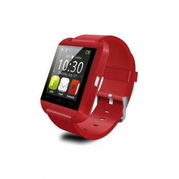 U8 Smart Watch Smart Watch Ios And Android Compatible Bluetooth Clock Red