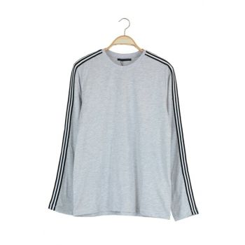 Gray Men's Striped T-Shirt TMNAW20TS0245