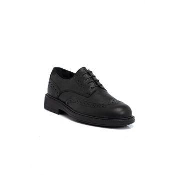 Black Leather Men's Shoes 54592A41 E19S1AY54592