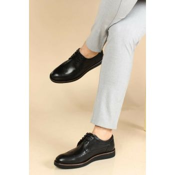 Genuine Leather Black Men Classic Shoes 1848967