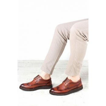 Genuine Leather Taba Men's Classic Shoes 1848974