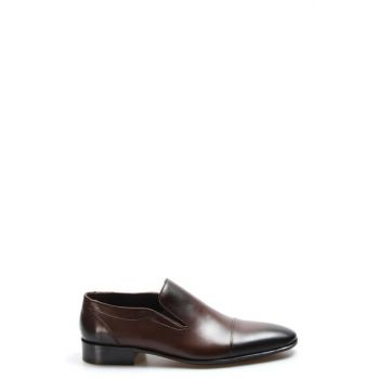 Genuine Leather Coffee Men Classic Shoes 2272480
