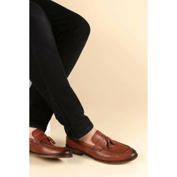 Genuine Leather Taba Men's Classic Shoes 1851485