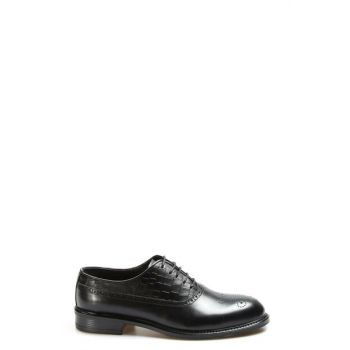 Genuine Leather Black Men Classic Shoes 2292818