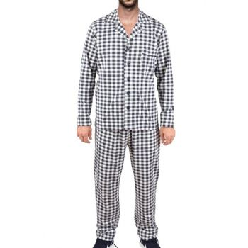 Men's Navy Blue Long Sleeve Pajama Set 93185
