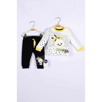 Baby Girl Sweatshirt Trousers Set of 2 14776 MINI14776