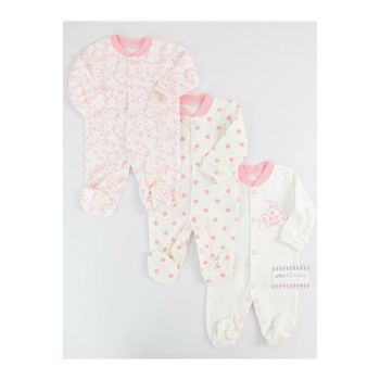 Light Pink Baby Girl 3-Piece Set With Flowers AF0080
