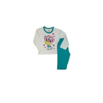 9380 Baby Girl Cute Dog Pajamas Set MNK01964