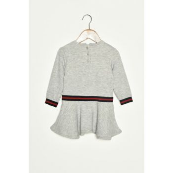 Gray Baby Girl Dress 9KMG89874ZK