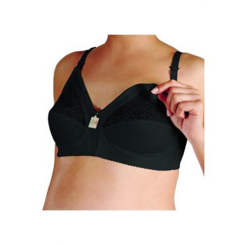 Ruched Breast Minimizer C Cup Breastfeeding Bra / Black 1016SCCUP