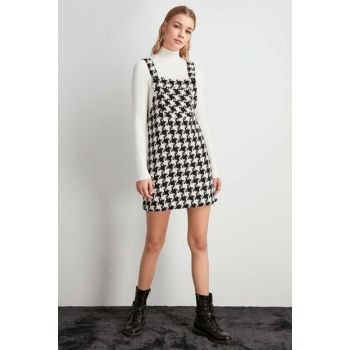Black Patterned Dress TWOAW20EL0208