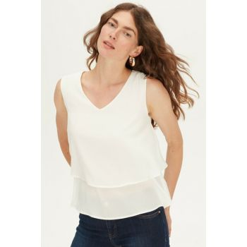 Women's Optical White Blouse 9WJ449Z8