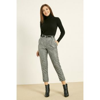 Ankle Thin Belt Pants - GRAY 20KPA313K116