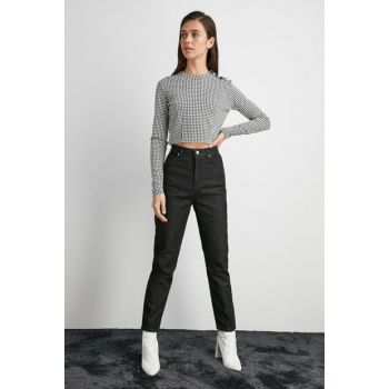 Black High Waist Mom Jeans TWOAW20JE0456