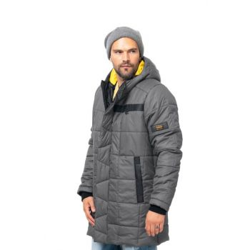 Light Gray Men's Parka KV514