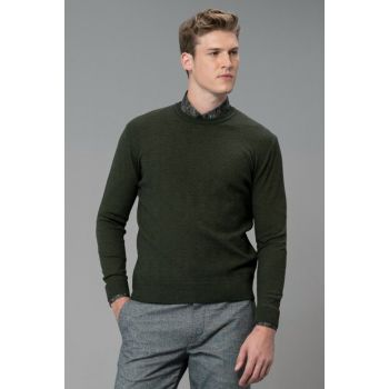 Men's Gobo Sweater Nephew Green 112090033100640