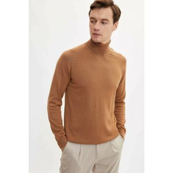 Men's Brown Turtleneck Basic Pullover L1905AZ.19WN.BN68