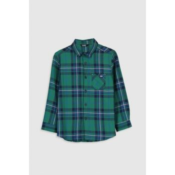 Boy Green Plaid LME Shirt 9WN327Z4