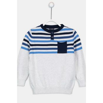 Boys' Indigo Striped Lgb Sweater 9W1727Z4