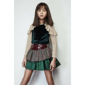 Girls' Purple Skirt 19FWLL07246