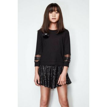 Girls' Black Pullover 19FWTSB0002