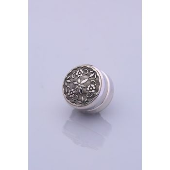 Anthracite Silver Plated Scarf Magnet 06-0828-17-10-T