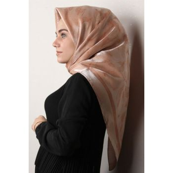 Women's Orange Rose Silvery Scarf ESP3004-10PRK