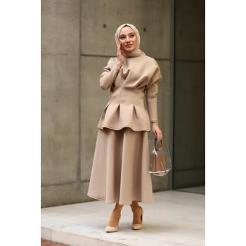 Women's Beige Eva Suit1049