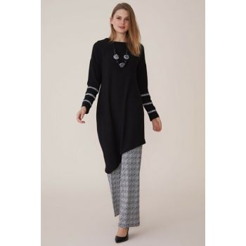 Women's Genuine Asymmetrical Trousers Set 2027784-909