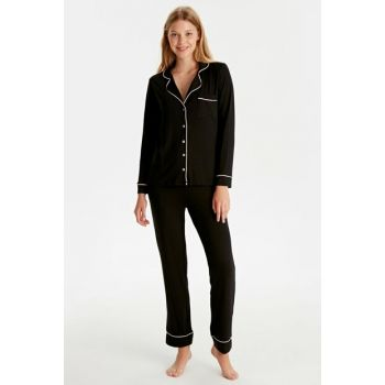 Women's New Black Pajama Set 9W4063Z8