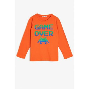 Orange Boy Printed T-Shirt 0YKB16802TK