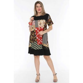 Women's Black Pocket Tunic Dress 3282