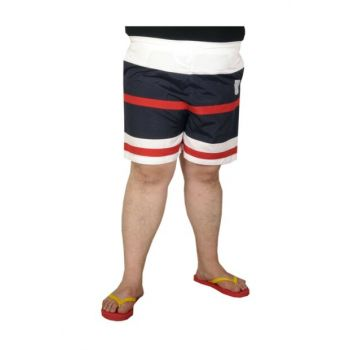 Plus Size Men's Sea Short Shorts 19572 Navy Blue 19572lac-4XL