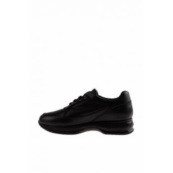 Genuine Leather Black Women Shoes 2FUW2015011