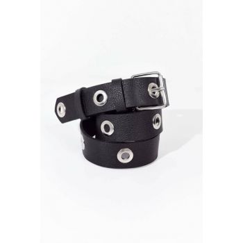 Women's Black Silver Bird Eye Detailed Belt K327 - A14 ADX-0000019199